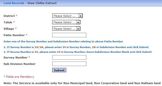 how to find land survey records in tamilnadu